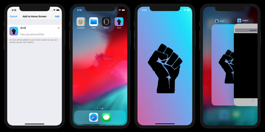 A PWA on iOS with icons and splash screens